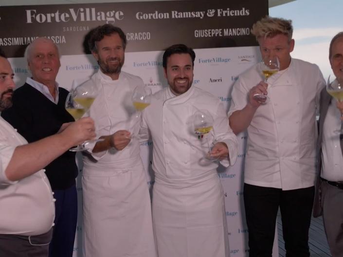 Giuseppe Mancino in cucina con Gordon Ramsay